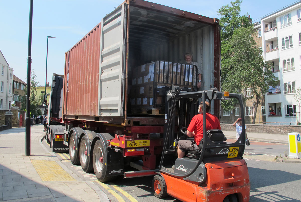 Rwanda shipment being loaded
