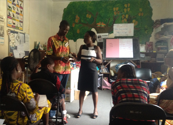 Librarian training in Liberia