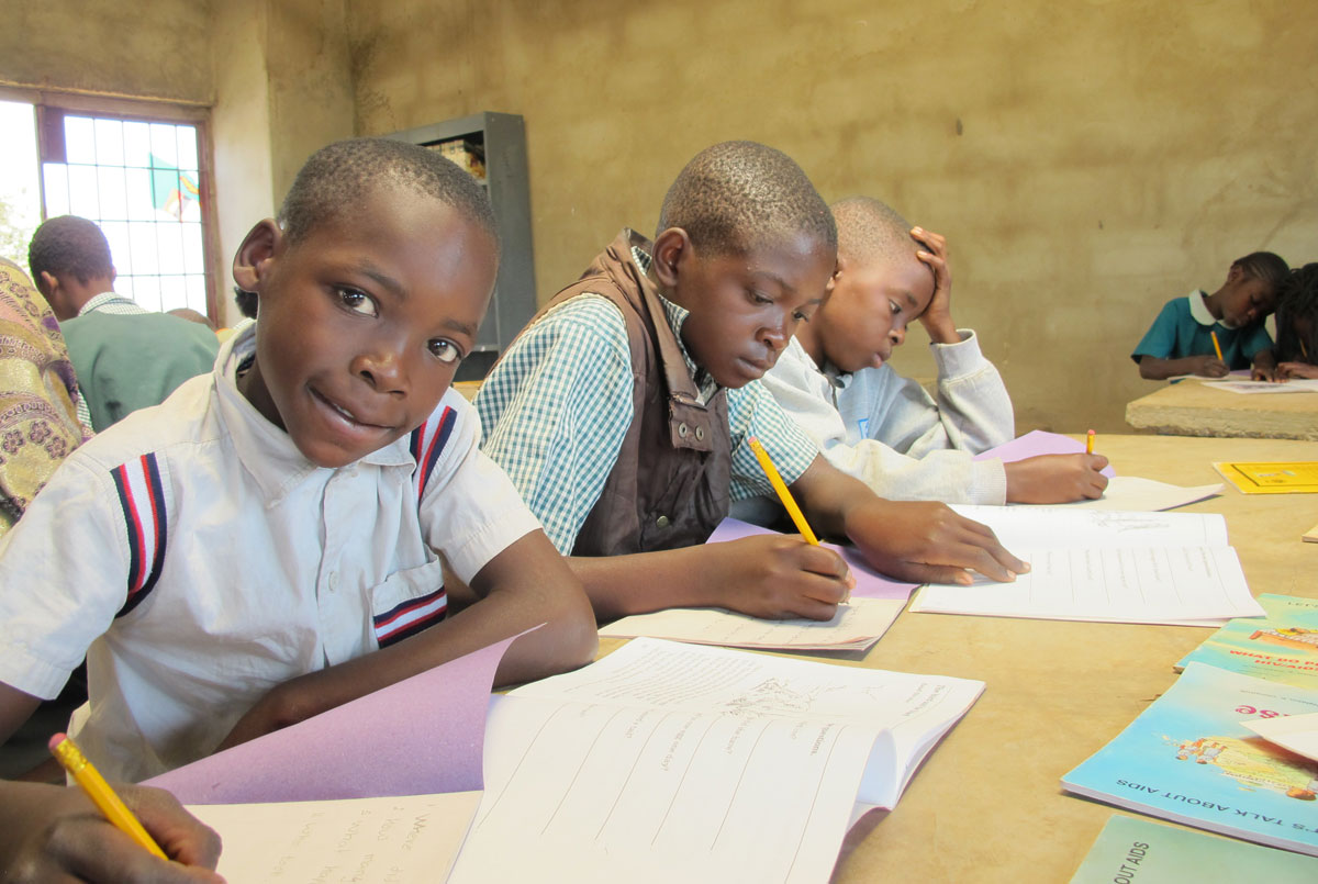 Young writers in Zambia