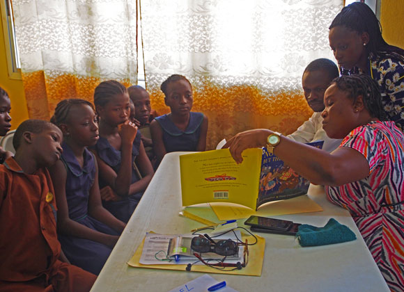Inspiring Readers training in Sierra Leone